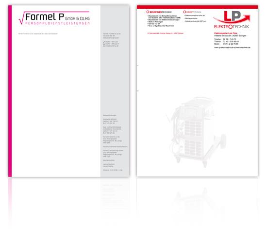 Briefpapier und Visitenkarten Design & Druck