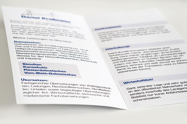 Werbeflyer gestaltet und gedruckt mit festem 250g Papier weiß