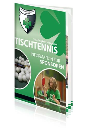 Broschüre für Sportverein 8-seitig Digitaldruck