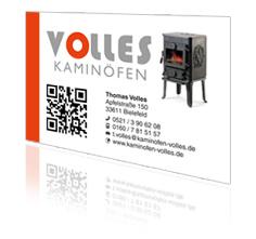 Visitenkarte mit QR-Code Druck