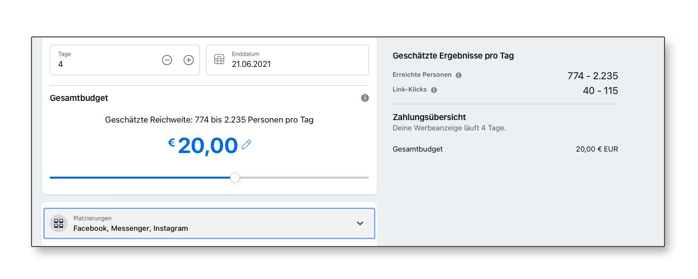Wie teuer ist Facebook oder Instagram Werbung?