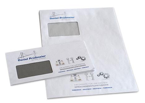DIN lang C4 Briefumschläge mit Logo Druck