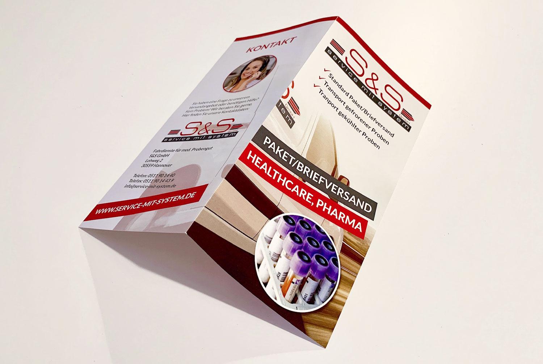 DIN lang Flyer 4-seitig Gestaltung und Druck
