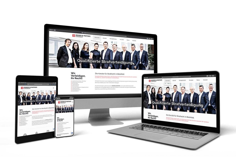 Responsive Homepage erstellen Agentur Bielefeld