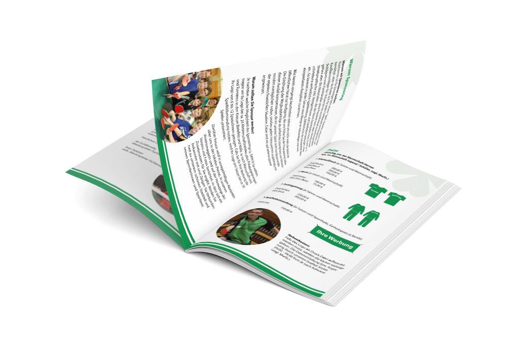Gestaltung und Druck Firmenbroschüre Sportmagazin