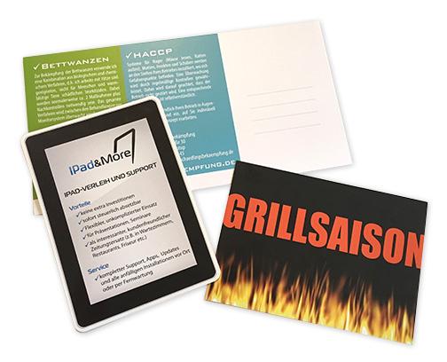 Postkarten für Werbung drucken lassen und Gestaltung