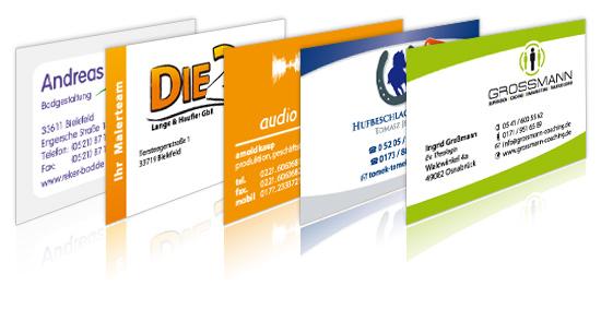 Günstige Gestaltung Von Visitenkarten Und Druck In Bielefeld
